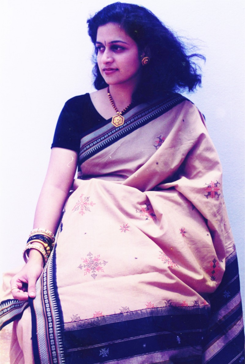 Kasuti Saree with black border