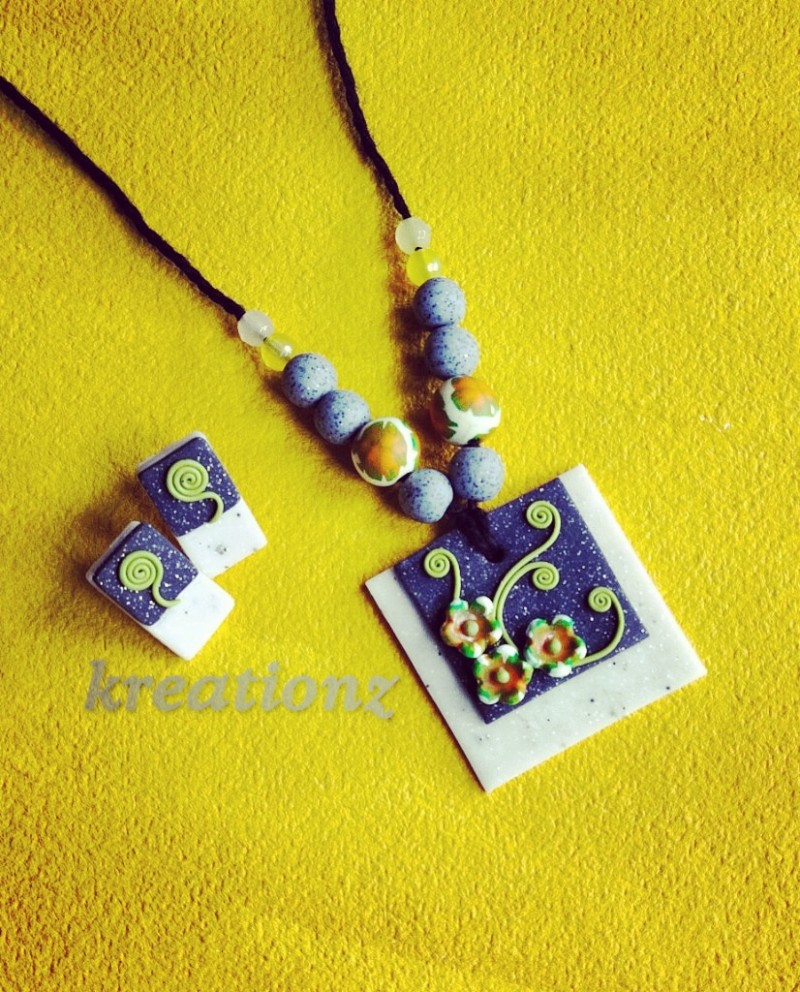 Polymerclay Jewellery with Granite effect
