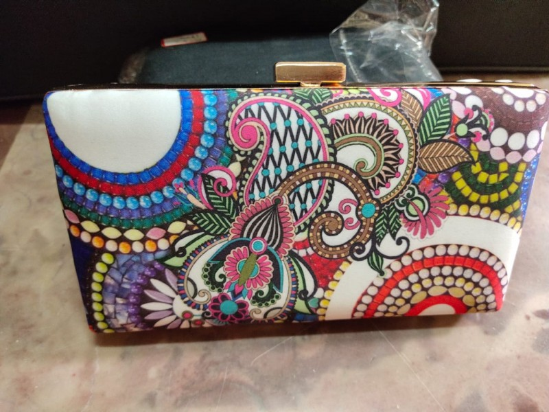 Beautifully Painted Metal Clutch