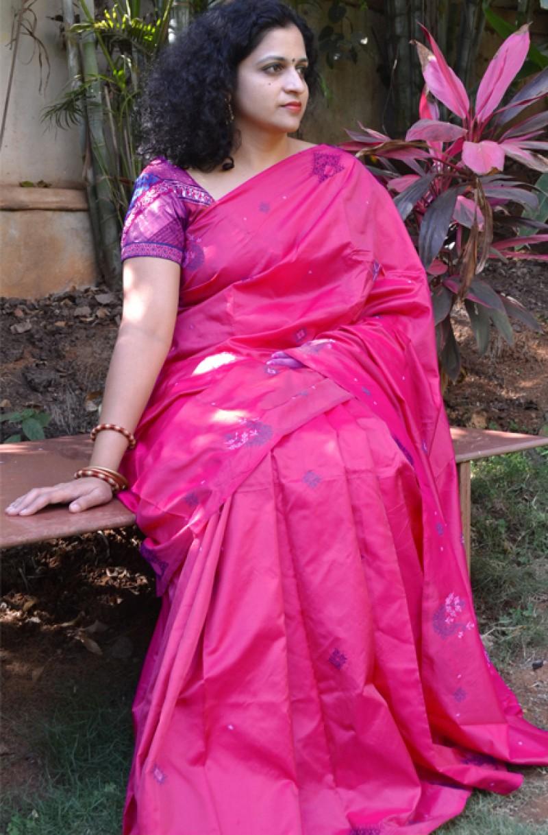 Magenta Silk Saree
